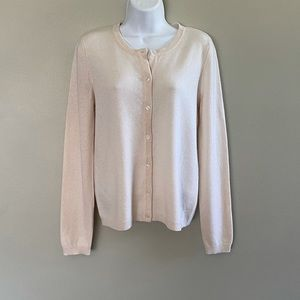 C by Bloomingdale's Crewneck Cashmere Cardigan NWT